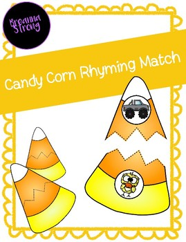 Candy Corn Rhyming Match (Fall/October)