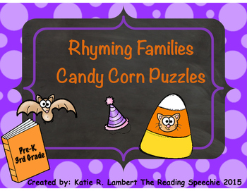 Candy Corn Rhyming with Word Families