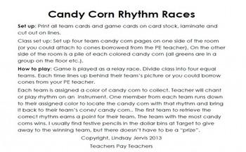 Candy Corn Rhythms: sixteenth notes