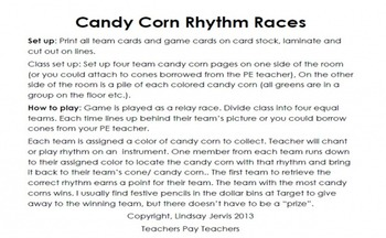 Candy Corn Rhythms: tam ti (dotted quarter/ eighth)