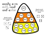 Candy Corn Roll Read and Color games