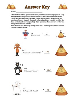 Candy Corn Round Up (Rounding to tens and hundreds)