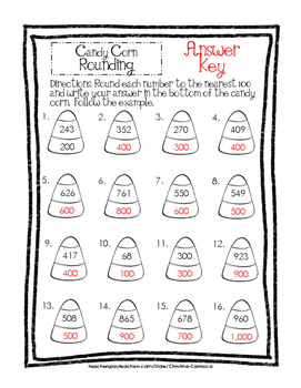 Candy Corn Rounding to the Nearest 100 Freebie!