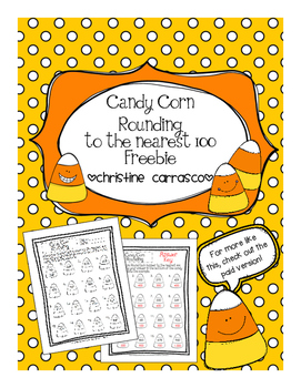 Candy Corn Rounding to the Nearest 100 Freebie!