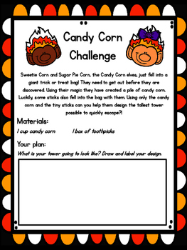 Halloween Candy Corn STEM