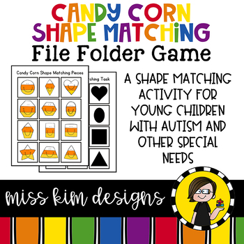 Folder Game: Candy Corn Shape Matching for Students with Autism & Special Needs