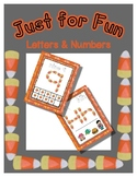 Candy Corn Shape Posters - Alphabet & Numbers - Just for Fun Mats / Posters