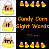Candy Corn Sight Word Cards 3rd Grade