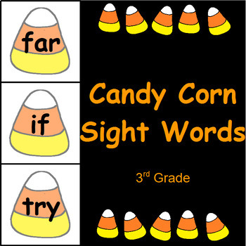 Candy Corn Sight Word Cards The Bundle (220 Words)
