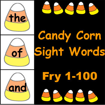 Candy Corn Sight Word Cards Fry 1-300 Bundle