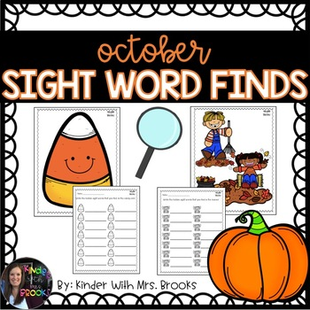 October/Fall Sight Word Find