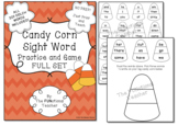 Candy Corn Sight Word Practice and Game FULL SET