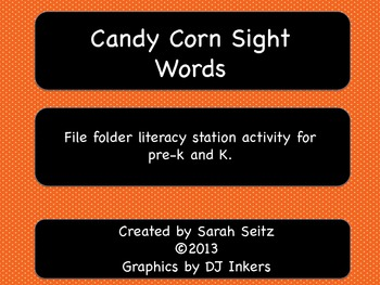 Candy Corn Sight Words