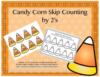 Candy Corn Skip Counting By 2's