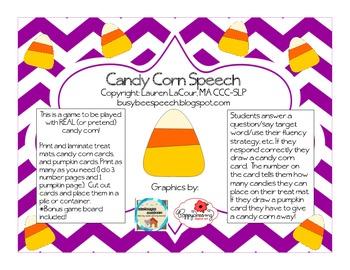 Candy Corn Speech FREEBIE!