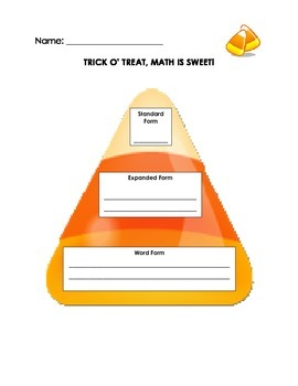 Candy Corn - Standard, Expanded, Word Form