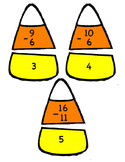 Candy Corn Subtraction Puzzles