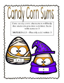 Candy Corn Sums - Adding to 5 Center