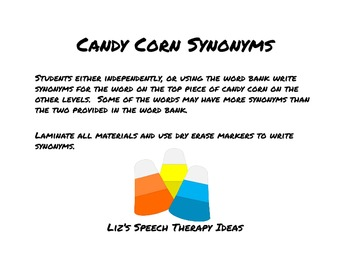 Candy Corn Synonyms