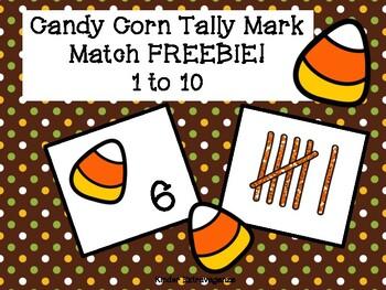 Candy Corn Tally Mark Match 1-10 FREEBIE!