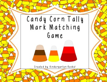 Candy Corn Tally Mark Matching