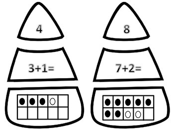 Candy Corn Task Cards- Addition and Subtraction