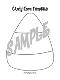 Candy Corn Template for Halloween
