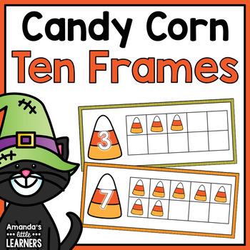Candy Corn Ten Frame Counting Mats