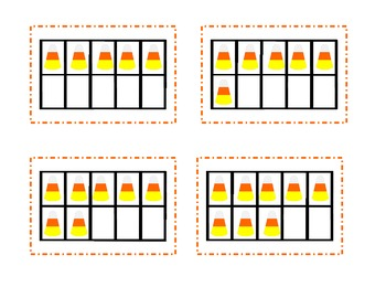 Candy Corn Ten Frame Matching
