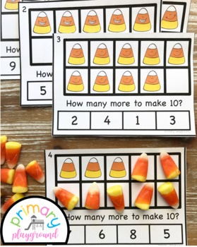 Candy Corn Ten Frame Task Cards Making Ten With Candy Corn Friends Center