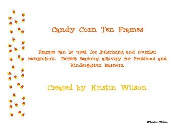 Candy Corn Ten Frames