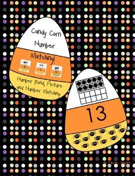 Candy Corn Tens Frame Matching!