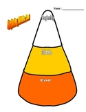 Candy Corn Theme - Graphic Organizer for Beginning, Middle and End