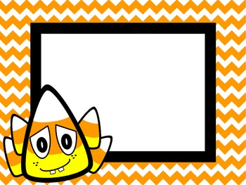 Candy Corn Themed Pennants and Borders