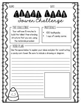 Candy Corn Tower {A Halloween STEM Challenge}
