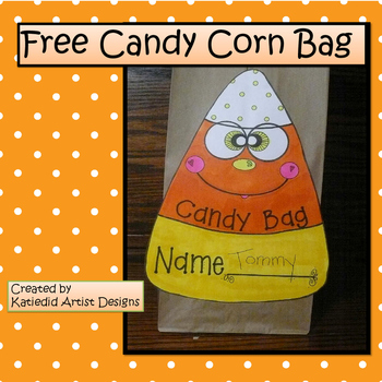 Candy Corn Treat Bag, Halloween Crafts