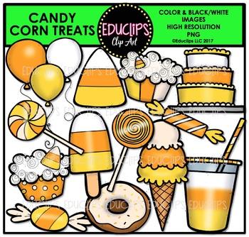 Candy Corn Treats Clip Art Bundle {Educlips Clipart}