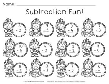 Candy Corn Troll Math: Subtraction