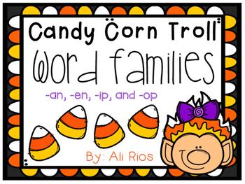 Candy Corn Troll Word Family Sort