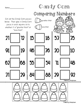 Candy Corn Trolls Comparing Numbers (Place Value)