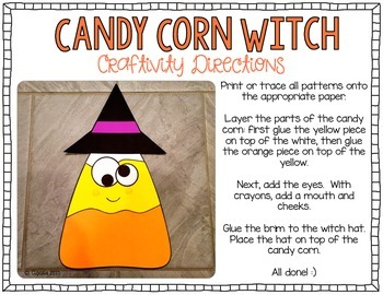 Candy Corn Witch {Craftivity}