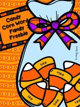 Word Family Freebie (-ike) - Candy Corn