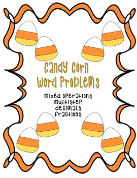 Candy Corn Word Problem Card