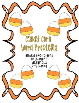 Candy Corn Word Problem Card