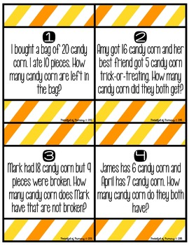 Candy Corn Word Problems!