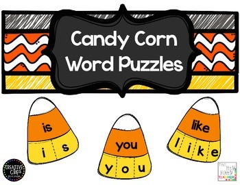 Candy Corn Word Puzzles