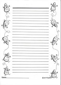Candy Corn Writing Paper