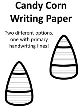 Candy Corn Writing Paper Candy Corn Writing Template Candy Corn Paper Lined