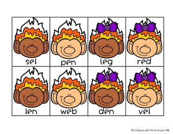 Candy Corn Yum! A Short Vowel Fluency Game