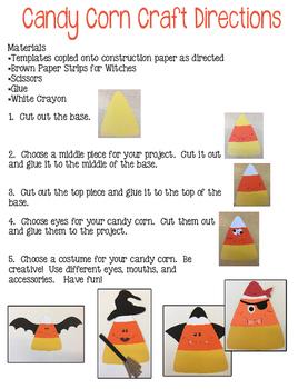 Candy Corn in Halloween Costume Craft